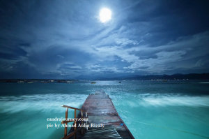 the moonlight in Gili Islands