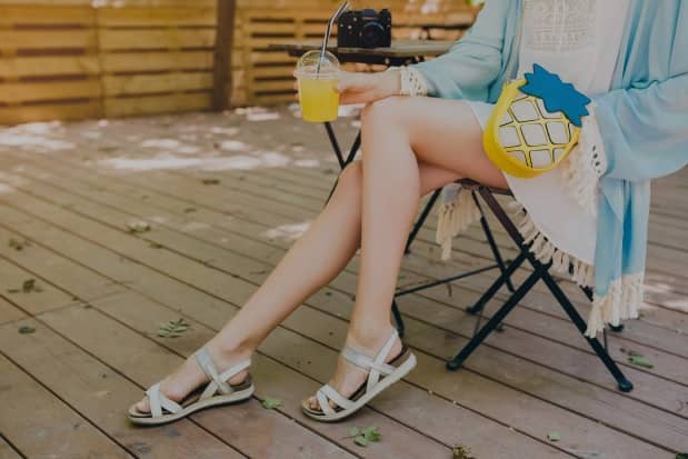 fashionable travel sandals